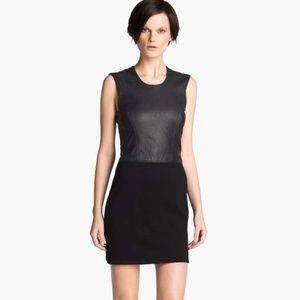 NEW HELMUT Helmut Lang Leather Combo Mini dress
